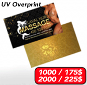 Business Cards Spot UV<br>16pts + Laminated